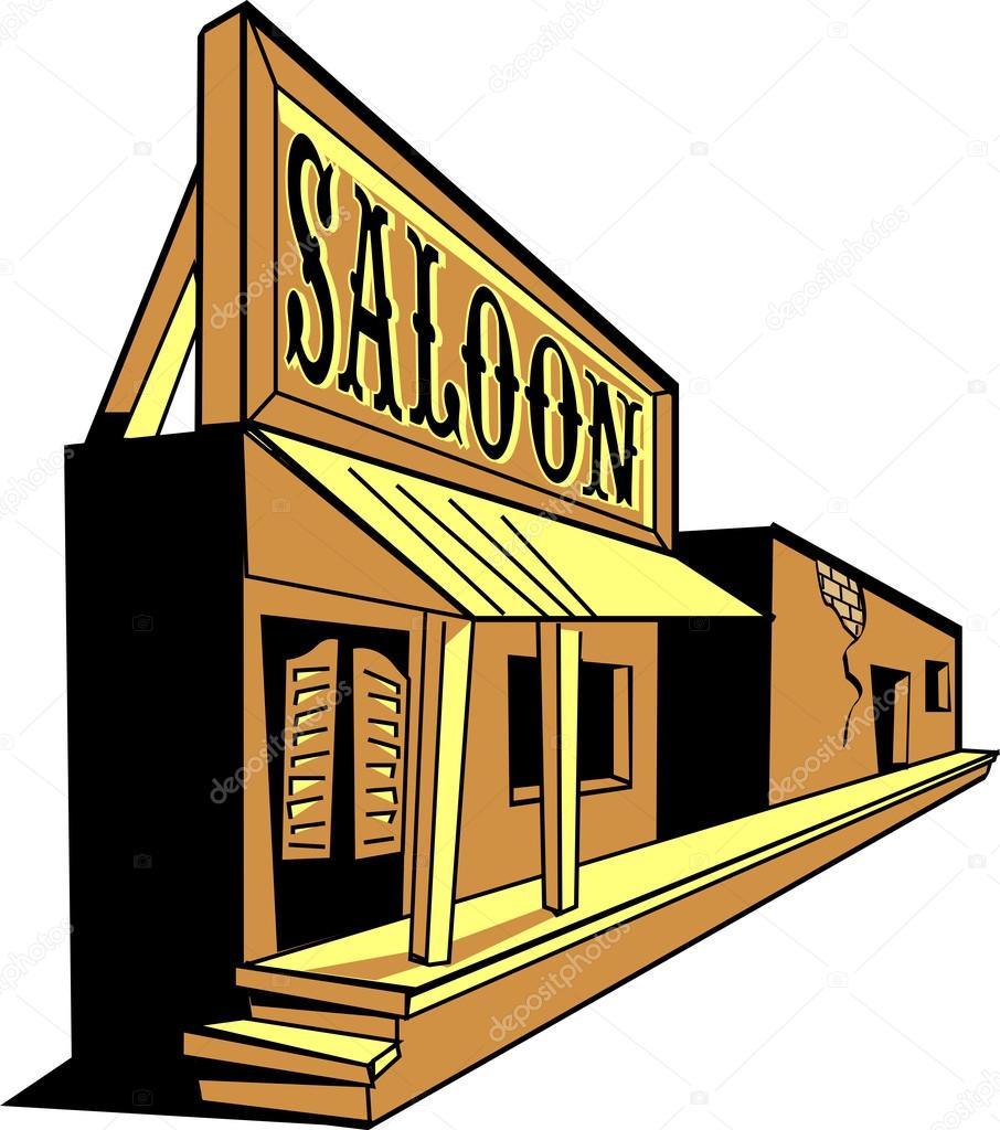 Cartoon saloon de l 39 ouest image vectorielle 17682747 for Porte de saloon western