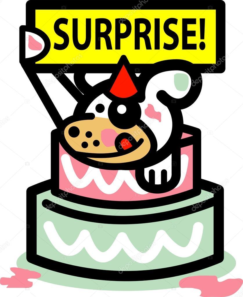 Hond Verjaardag Vakantie Verrassing Stockvector C Clipartguy 17683561