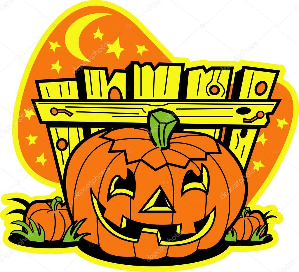Dibujos Animados De Calabazas De Halloween Archivo Imagenes - Calabazas-animadas