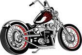 Fotografie Černý motocykl s rudý plamen Barva zvýraznění