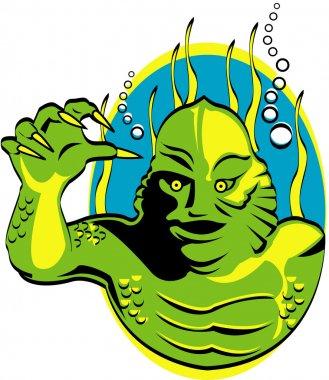 Green swamp monster