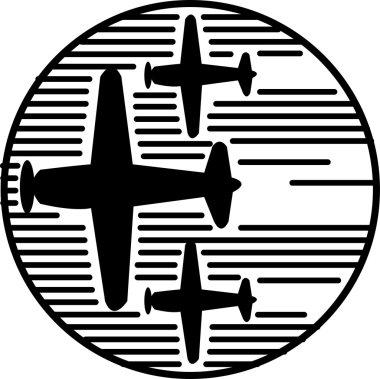 Three airplanes speeding through the sky during an air show