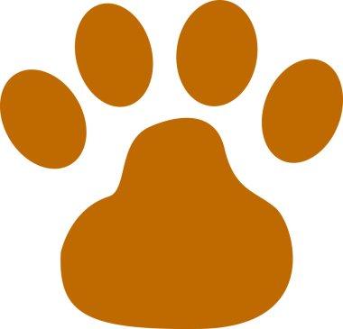 Brown dog paw print
