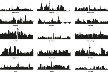 Vector silhouettes of the city's skyline