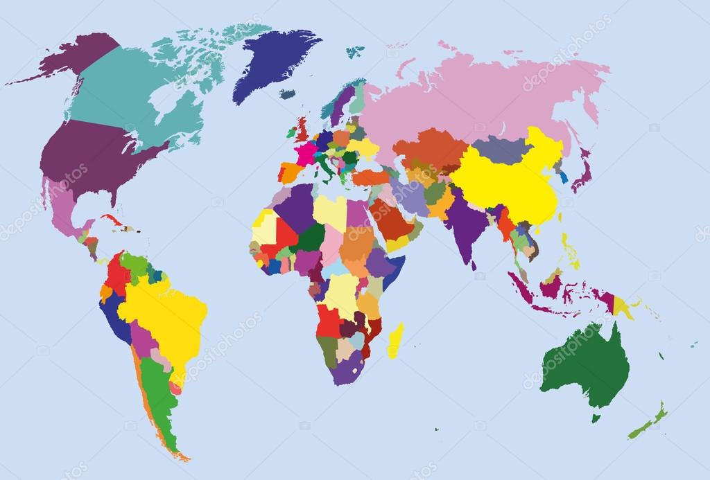 Cartina Del Mondo Politico.Mappa Del Mondo Politico Vettoriali Stock C Jktu 21 24751131