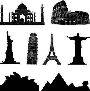 Vector world sights  icons