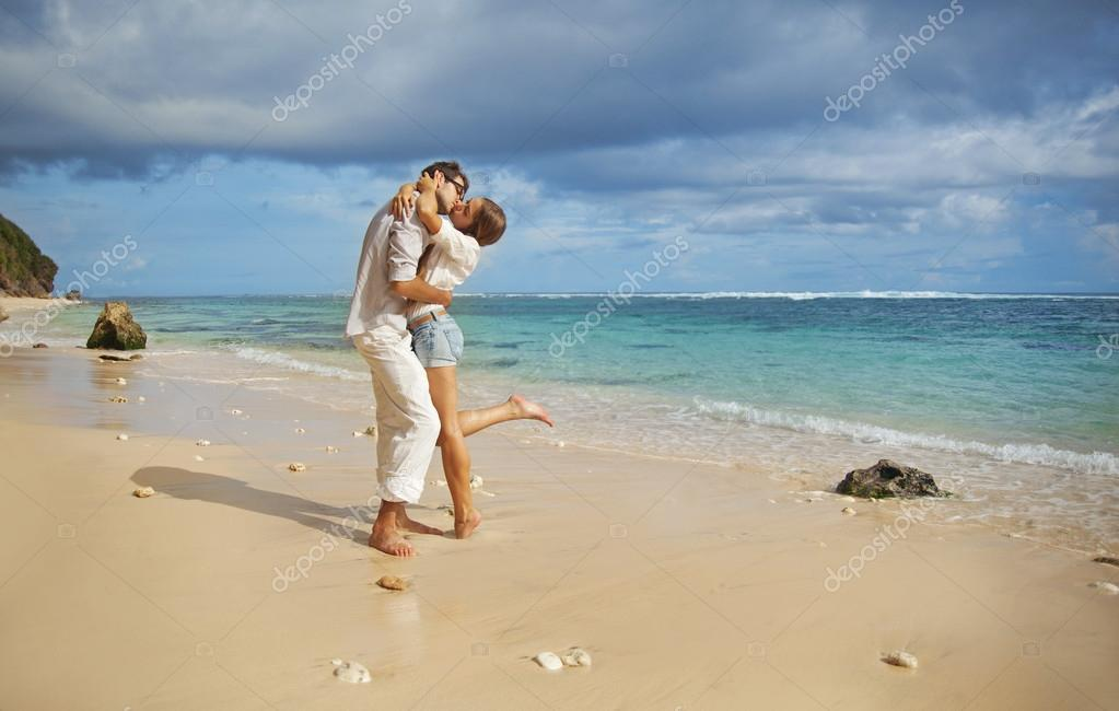 Beach, beautiful couple