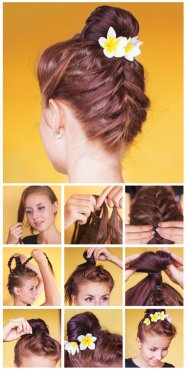 Braided bun updo tutorial