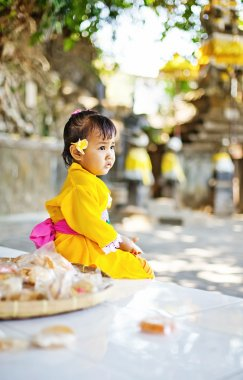 Balinese child in traditional costume