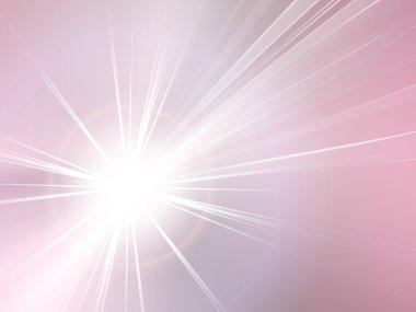 Pink abstract background - starburst