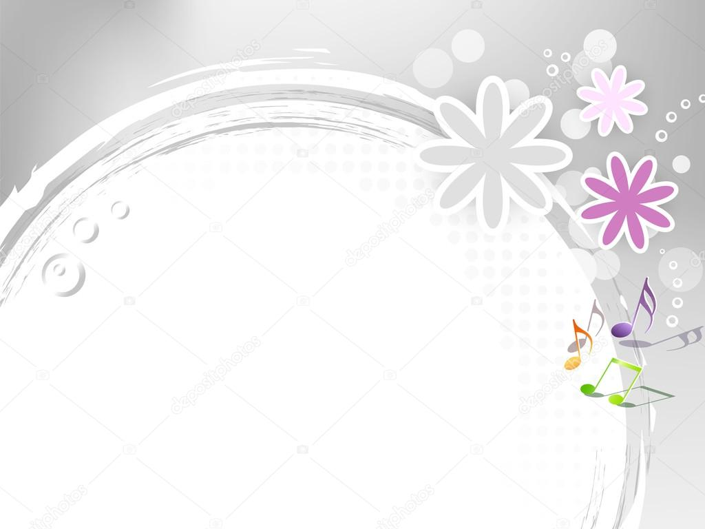 music notes backgrounds floral - photo #19