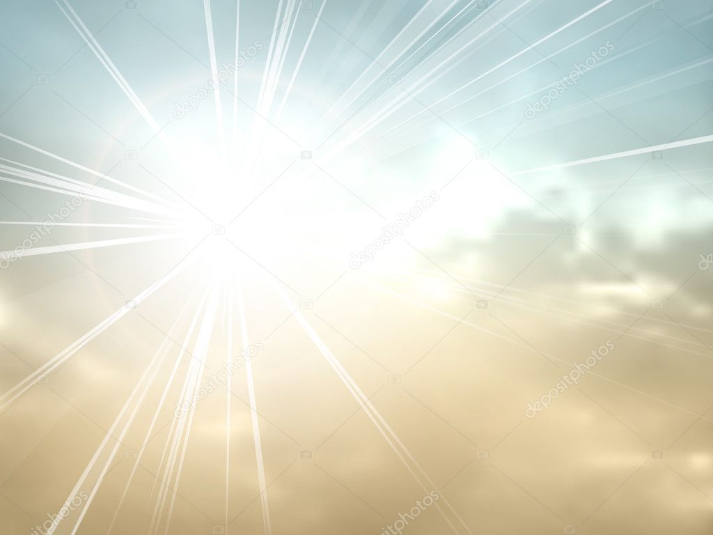Starburst - sunburst - vintage sky background