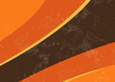 70s retro background - abstract curved lines