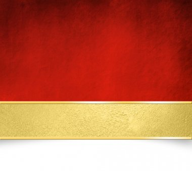 Red background with gold banner - Christmas template
