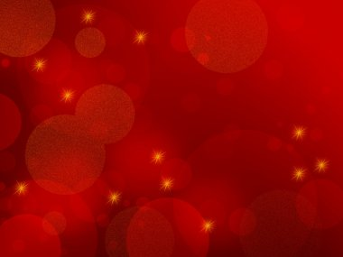 Red background - abstract Christmas sparkles