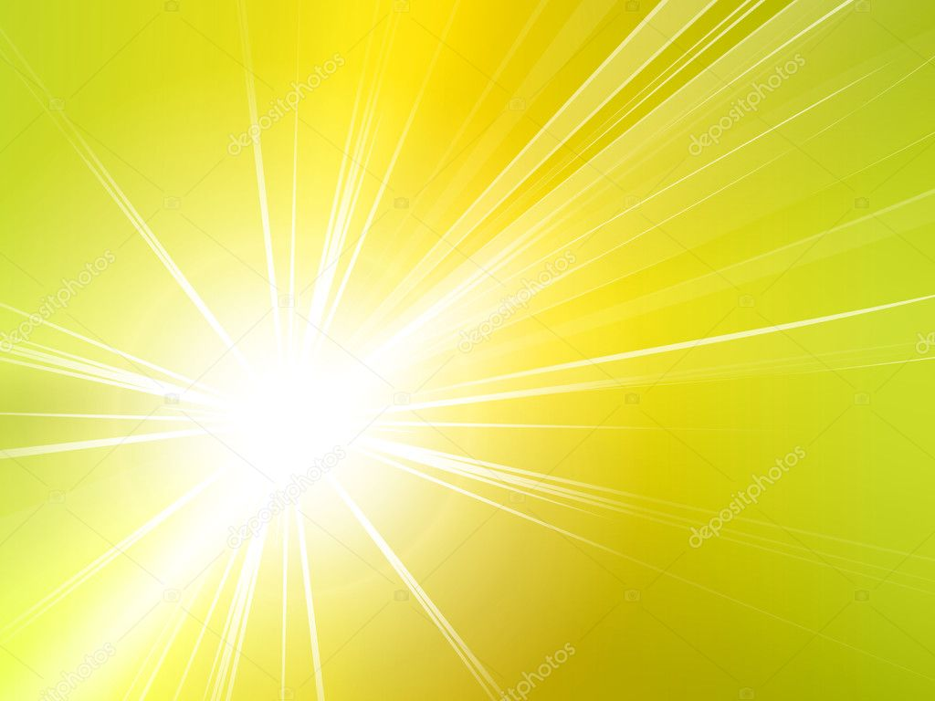 Yellow starburst - summer background - sun