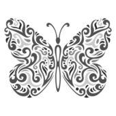 Photo Abstract Mehndi butterfly - vector illustration