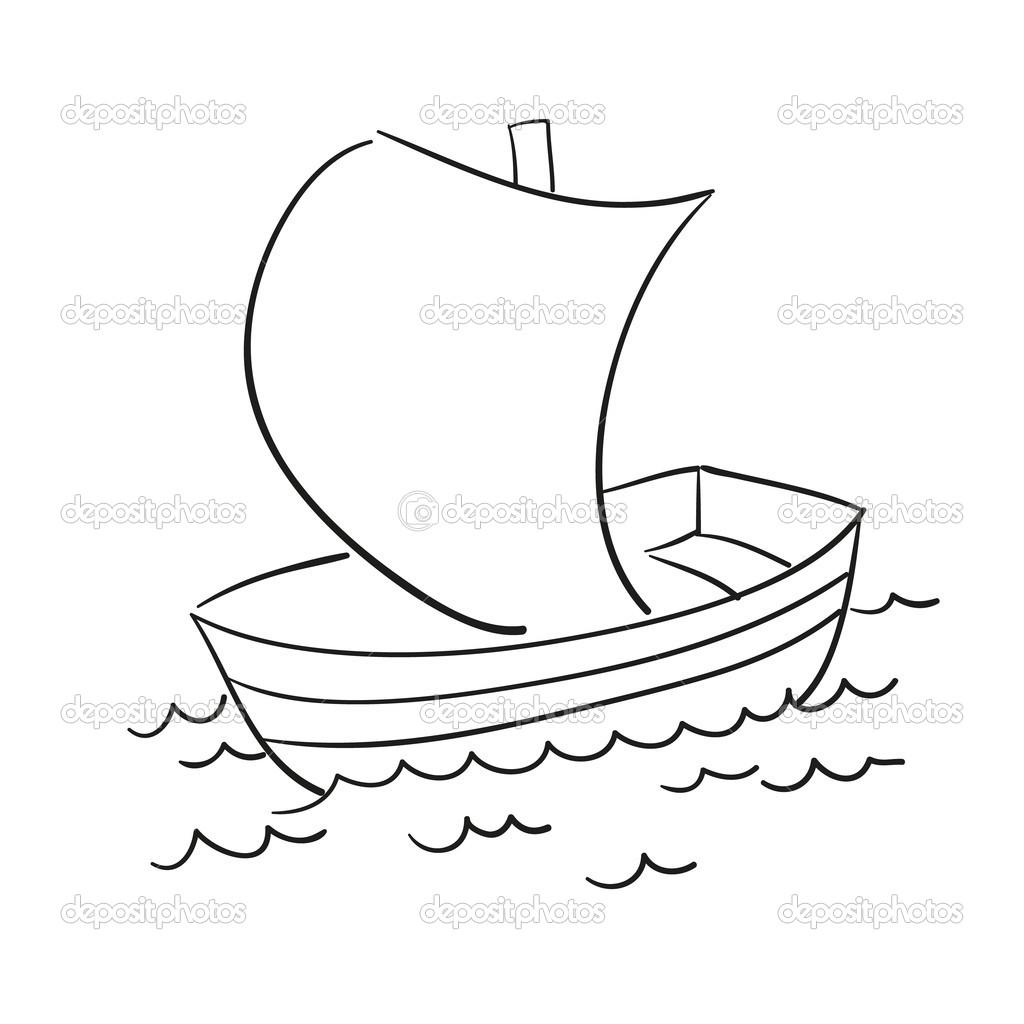 vector sketch of the boat u2014 stock vector lizalutik 36650515