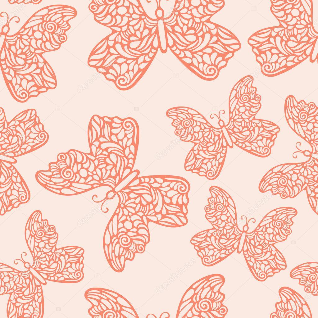 Beautiful Hand Drawn Butterflies
