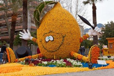 MENTON, FRANCE - FEBRUARY 27: Lemon Festival (Fete du Citron) on the French Riviera.