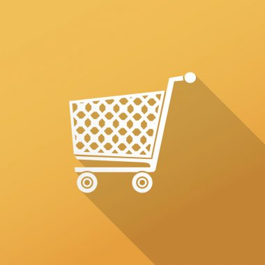 Shopping cart flat icon