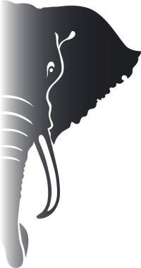 Elephant. Vector illustration. stock vector