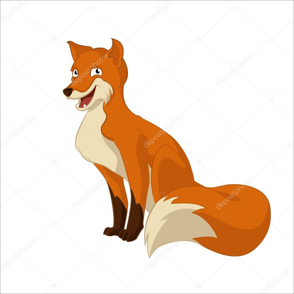 Kreslený liška — stock vektor kolonorf