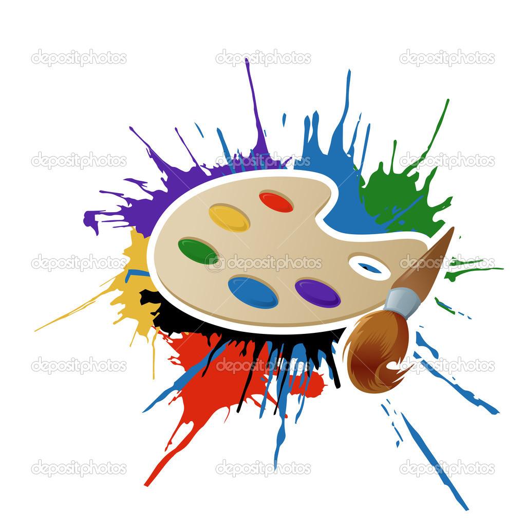 Pintura pincel y paleta vector de stock kolonorf - Paint para pintar ...
