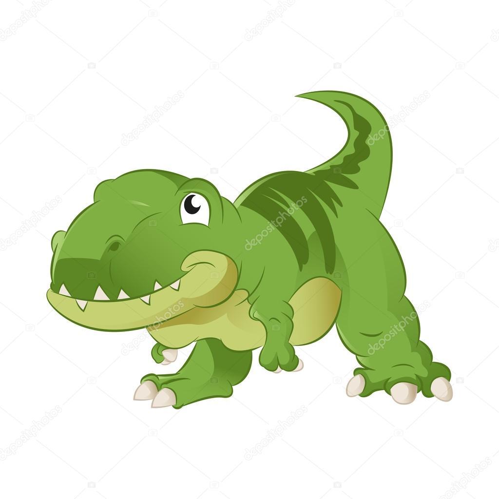 animado dibujo dinosaurio rex dibujos animados t rex vector de