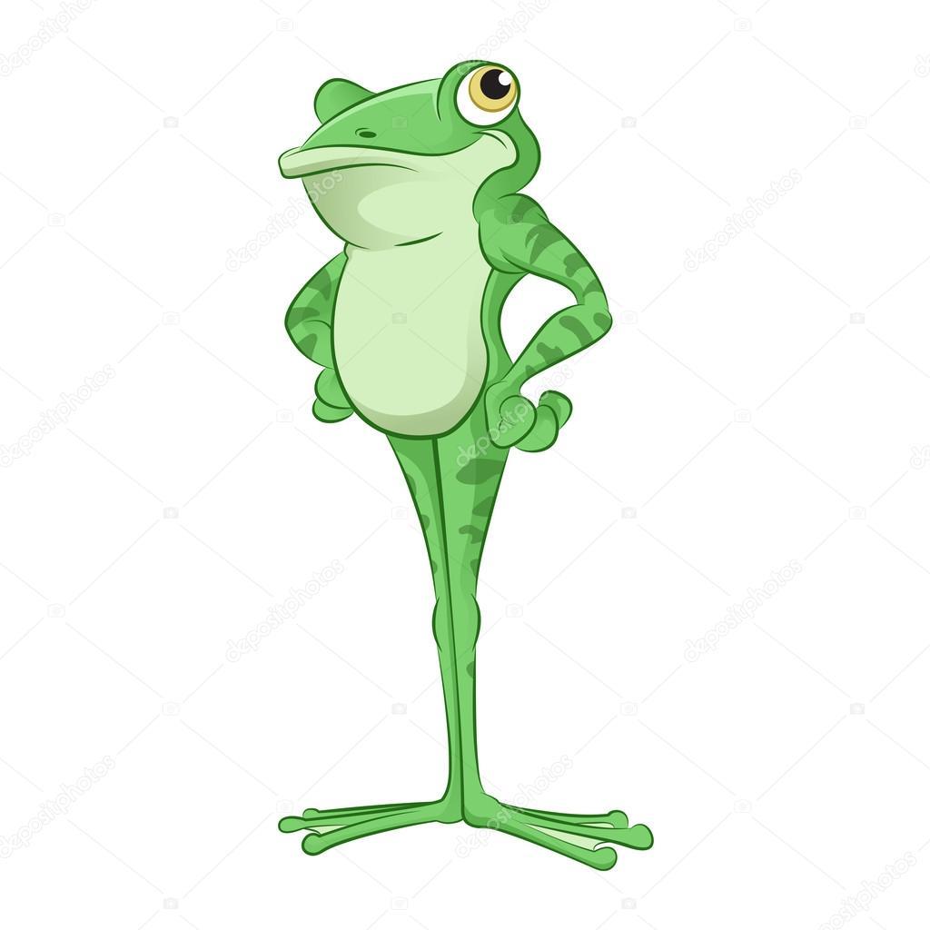 cartoon frog u2014 stock vector kolonorf 46132735
