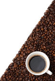 Coppa di chicchi di caffè