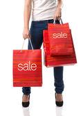Frau mit sales Taschen
