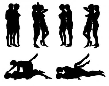 Silhouette love position