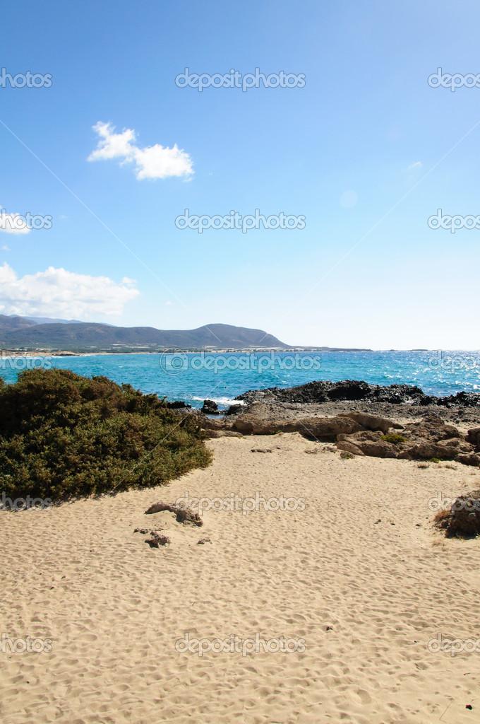 Falassarna Einer Der Schönsten Strände Kretas Ausgezeichnet Als
