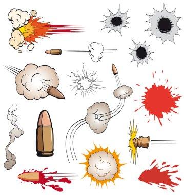 Comic book bullets set