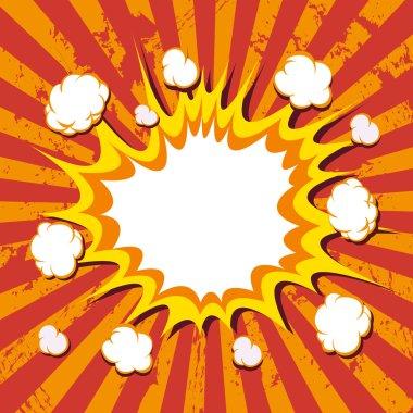 Boom. Comic book explosion