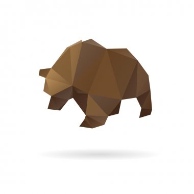 Bear abstract isolated on a white backgrounds clip art vector