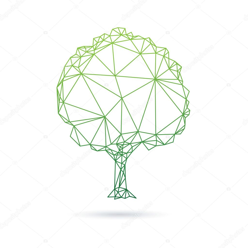 Tree abstract isolated on a white backgrounds
