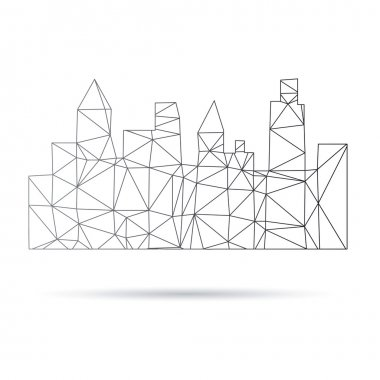 Cityscape abstract isolated on a white backgrounds, vector illustration