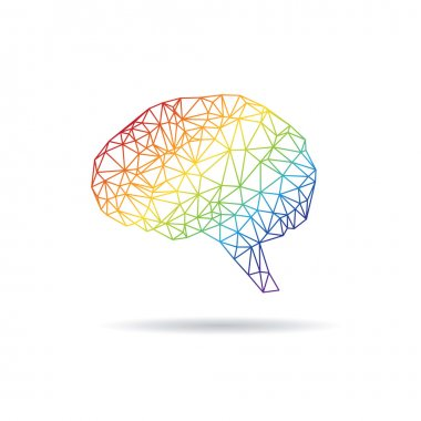 Brain abstract isolated on a white backgrounds, vector illustration