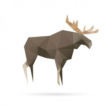 Elk abstract isolated on a white backgrounds clip art vector