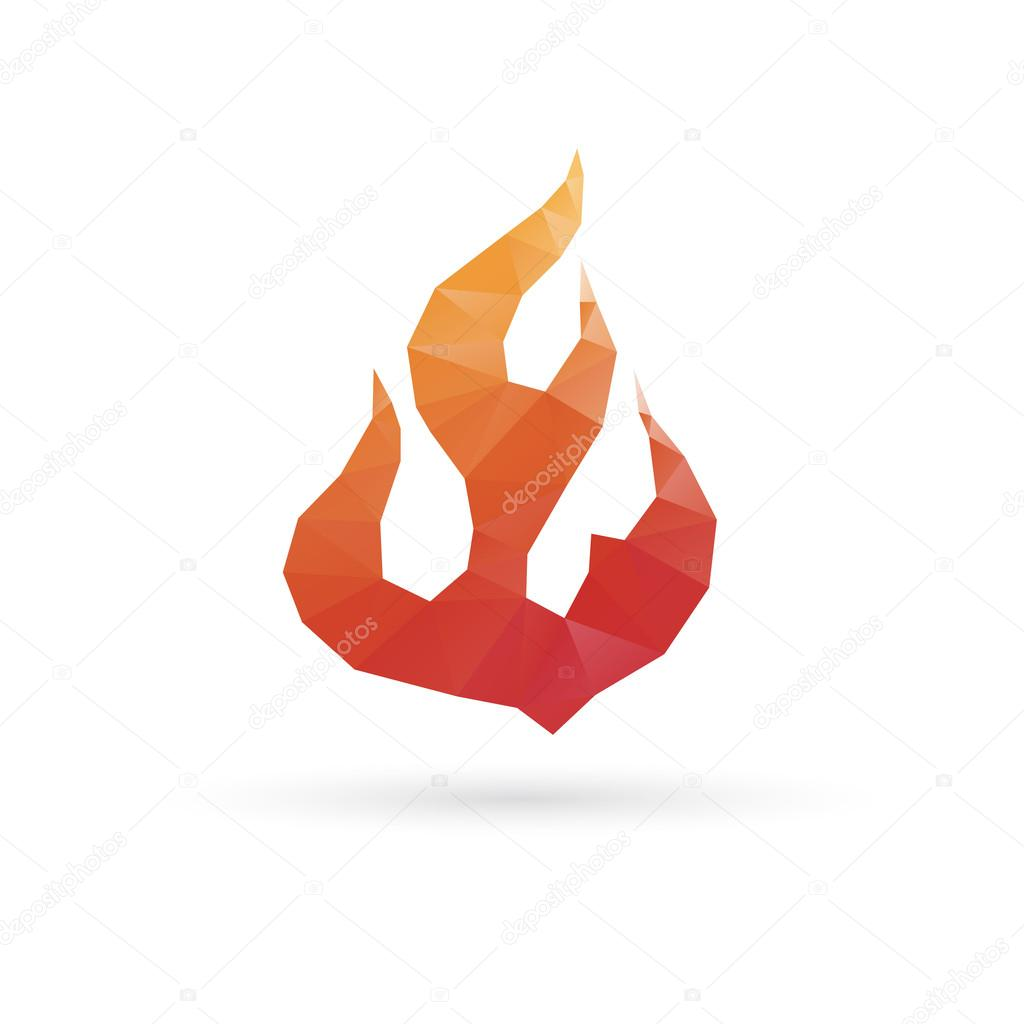 Fire abstract isolated on a white backgrounds