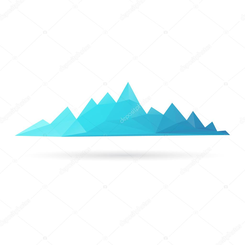 Mountain range abstract isolated on a white backgrounds