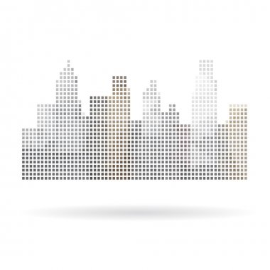 City abstract isolated on a white backgrounds