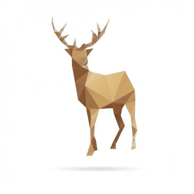 Deer abstract isolated on a white background