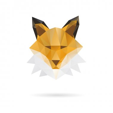 Fox head abstract isolated on a white backgrounds