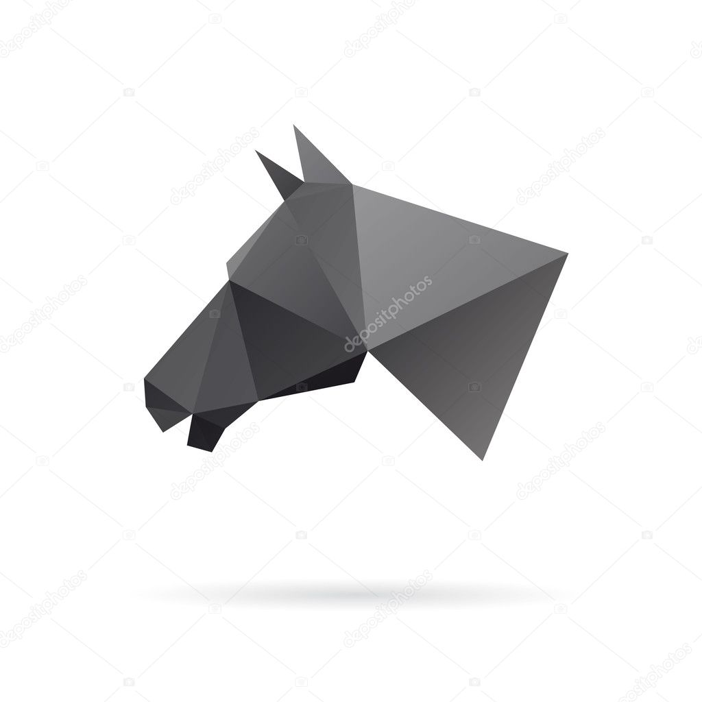 Horse Head Abstract Isolated On A White Background Stock Vector