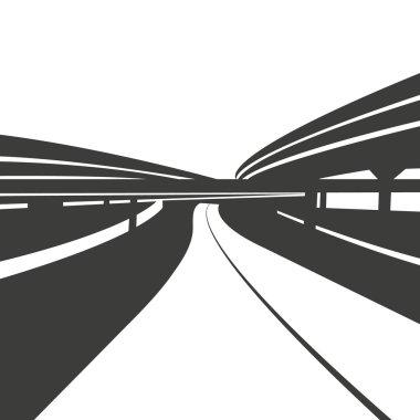 Road background,vector illustration