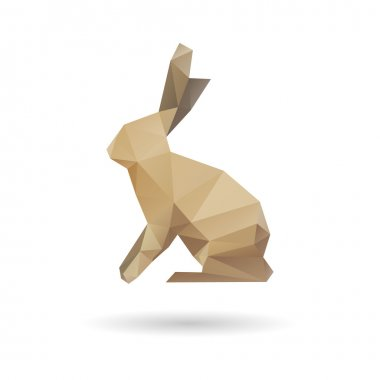Rabbit abstract isolated on a white background