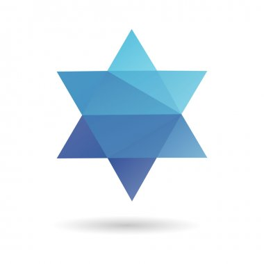 Jewish star abstract isolated on a white background stock vector